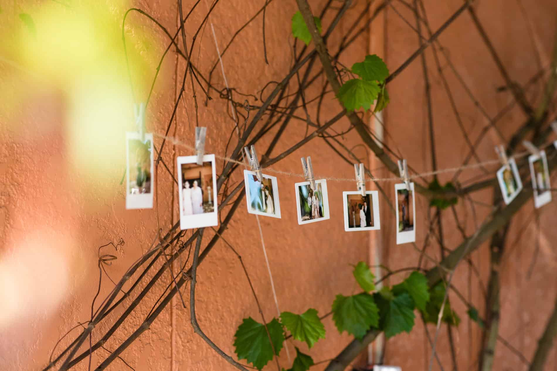 DIY selfie station for couples outdoor wedding