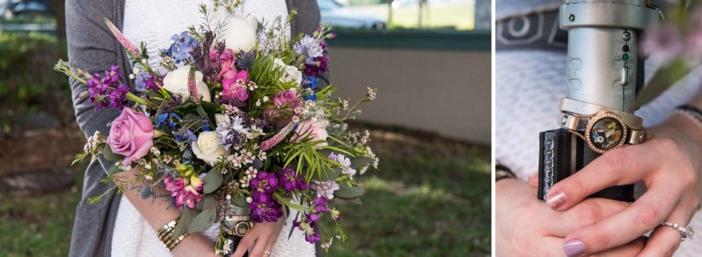 Star Wars Bridal Bouquet and Details at a Star Wars Wedding
