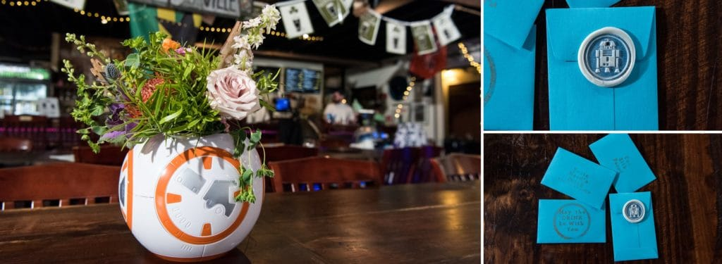 Star Wars wedding ideas and inspiration with BB8