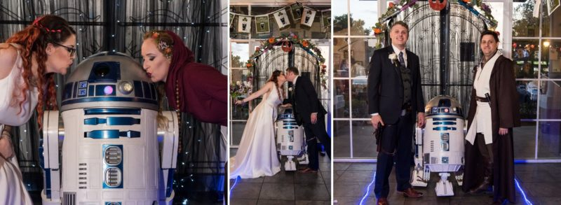 Formal Bride and Groom images at a Star Wars Wedding