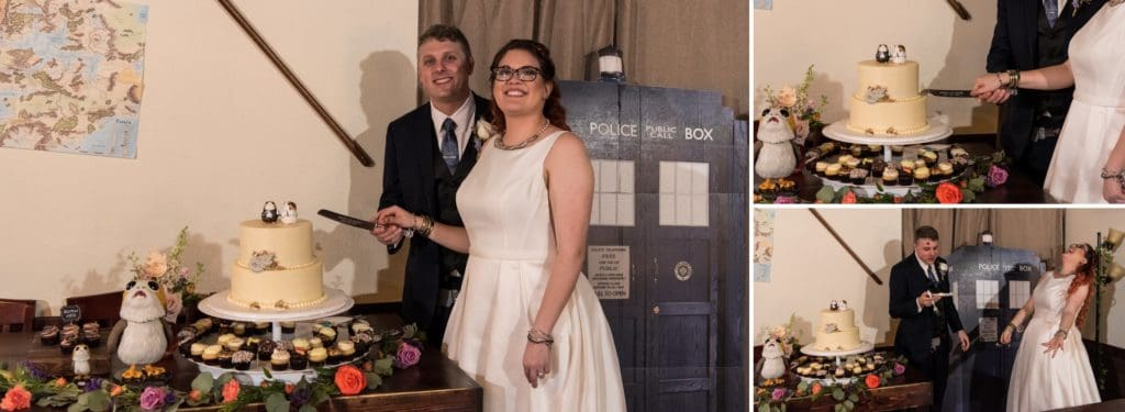 Cutting the Cake at a Star Wars Wedding
