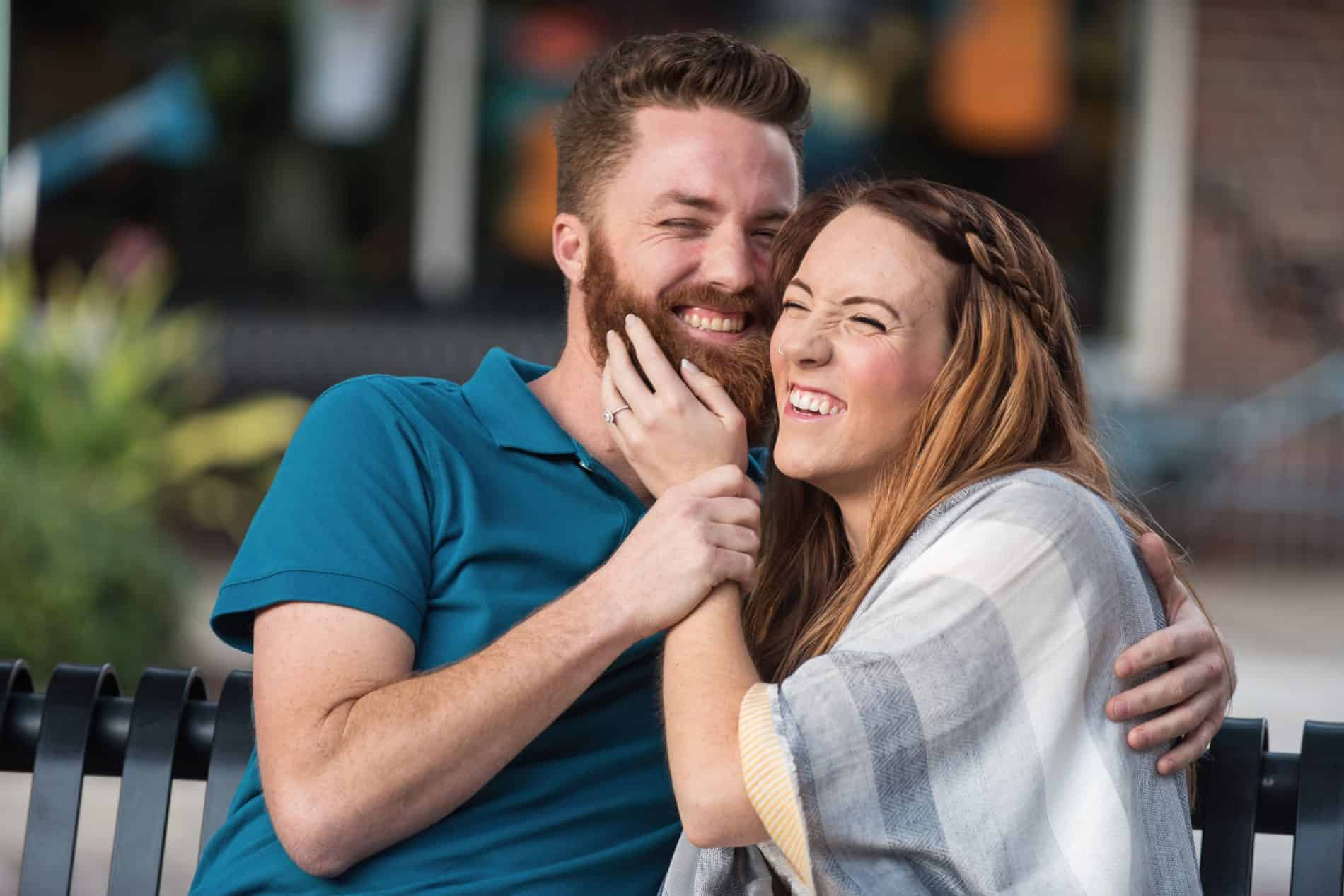 Fiance makes his bride to be laugh