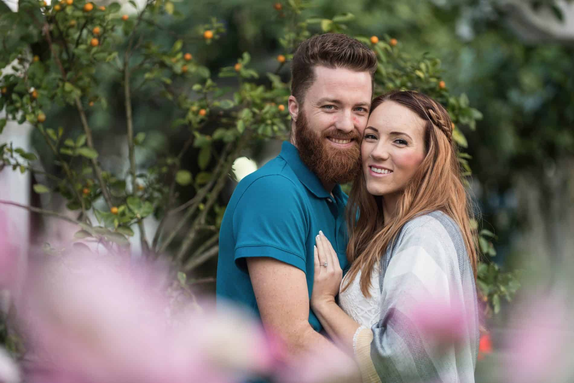 Summer Smiles during a Winter Garden Engagement Session