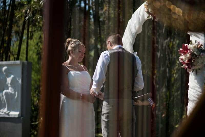 Groom says his vows outside in Winter Park