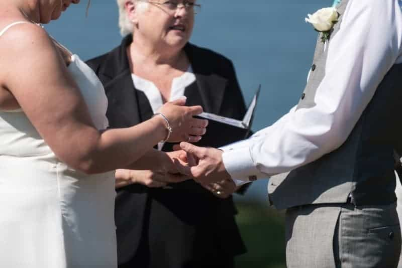 Vows at the Capen House Wedding