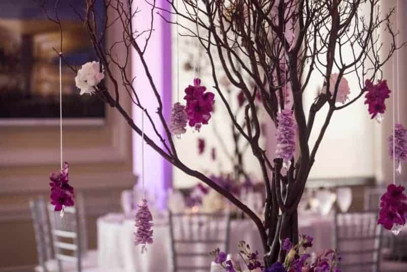 Beautiful Fantasy themed Reception at the Downtown Orlando Wedding
