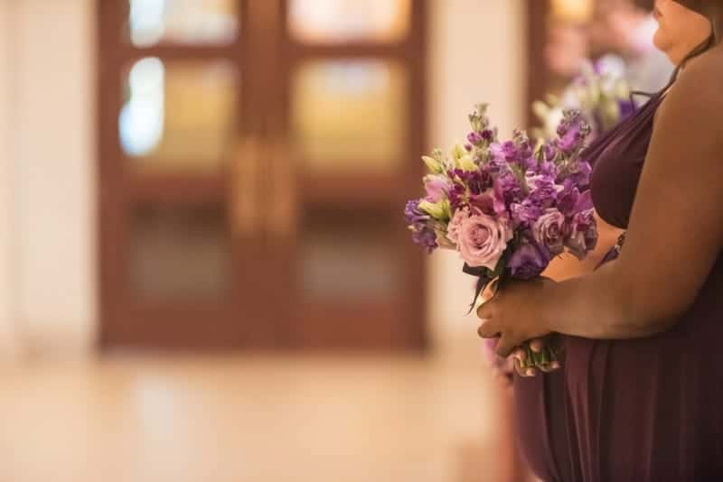 Bridesmaid bouquet at a Wedding in Downtown Orlando