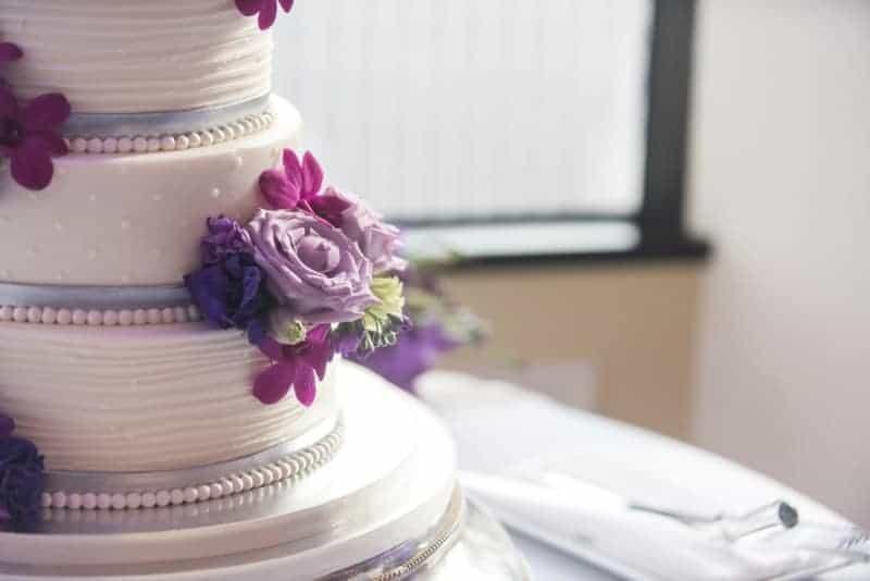Decorated Wedding Cake at Citrus Club Orlando