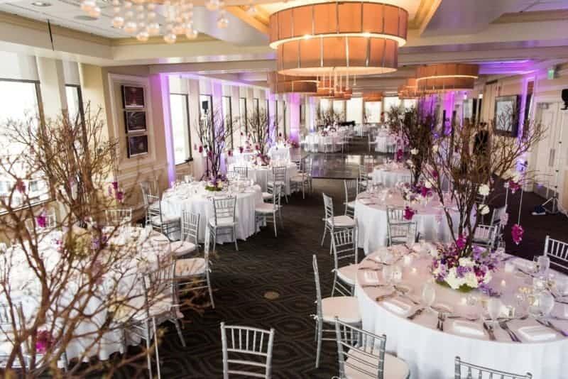 Reception Ballroom at a wedding at Citrus Club Orlando