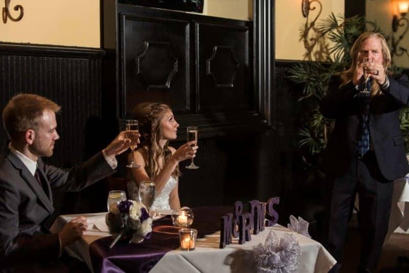 Wedding Toast at 310 Lakeside in Orlando