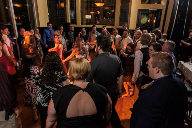 Group Dancing at Downtown Orlando Wedding