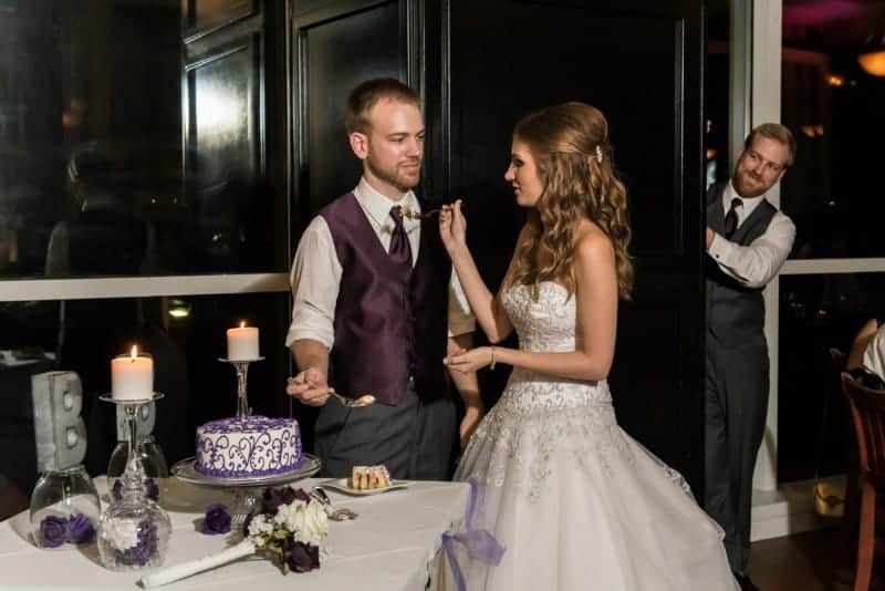 Bride and Groom Cutting Cake at 310 Lakeside