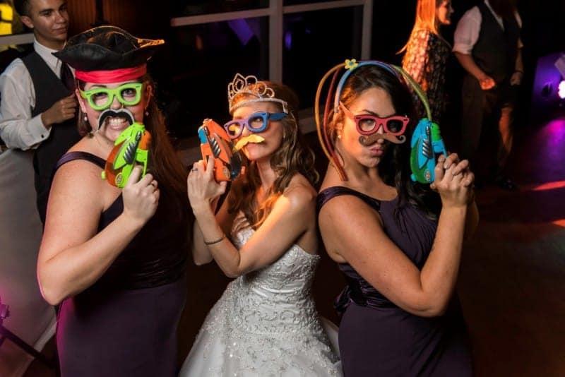 Bride and Bridesmaids in Downtown Orlando Wedding