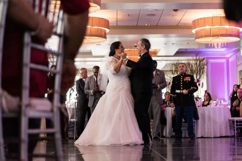 Father dances with his daughter the bride at Citrus Club Orlando