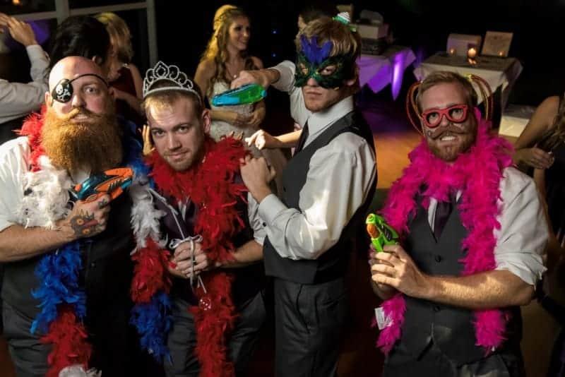 Groom hamming it up at his Downtown Orlando Wedding Reception