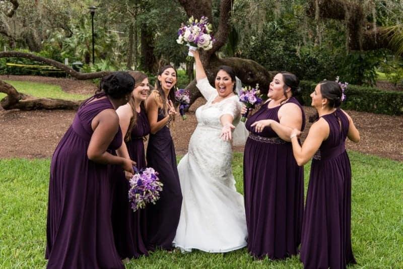 Bride and her Bridesmaids celebrating
