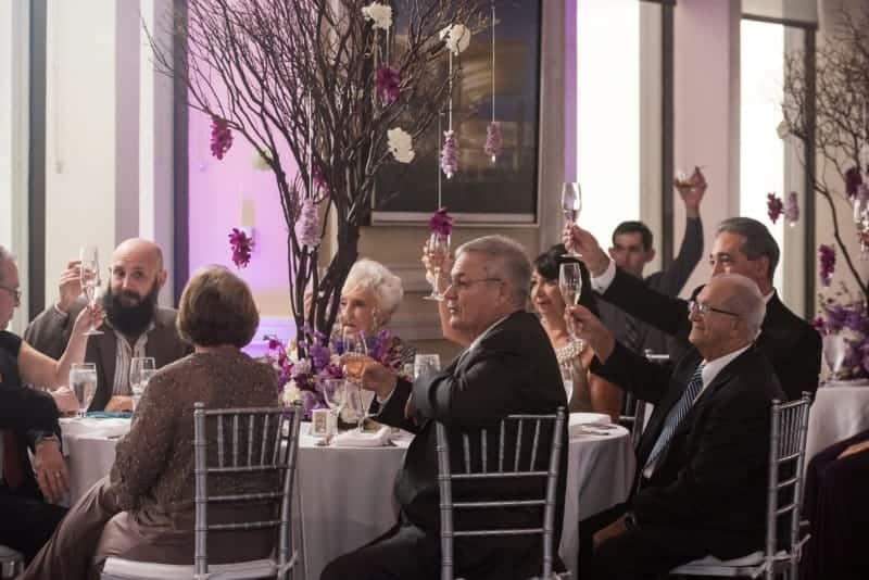 Family toasts the Bride and Groom at the Citrus Club