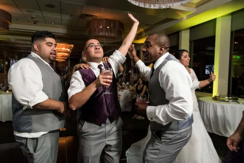 Servicemen toast their married comrade