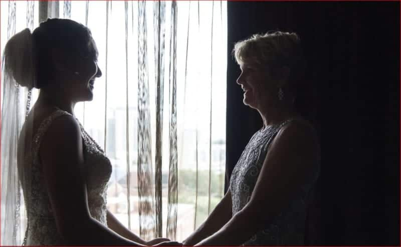 Bride and Mom at Citrus Club Wedding