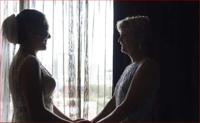 Bride and Mom at Citrus Club Wedding