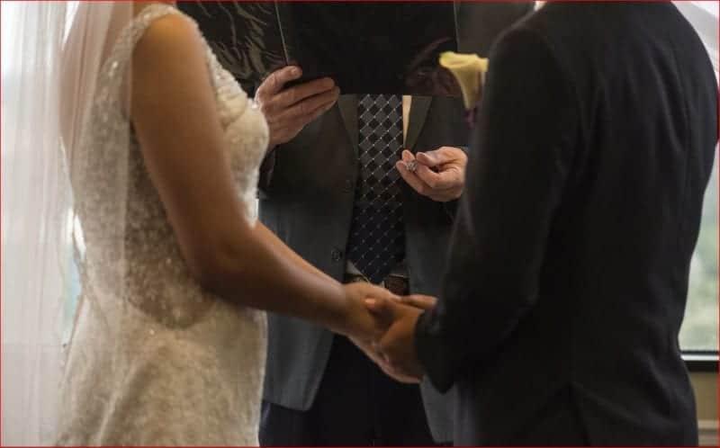 Exchanging Rings at Citrus Club Wedding