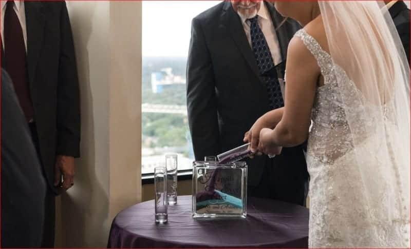 Sand Ceremony at Citrus Club Wedding