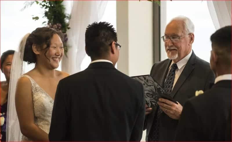 Exchanging Vows at Citrus Club Wedding