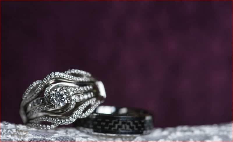 Wedding Ring Details at Citrus Club Wedding
