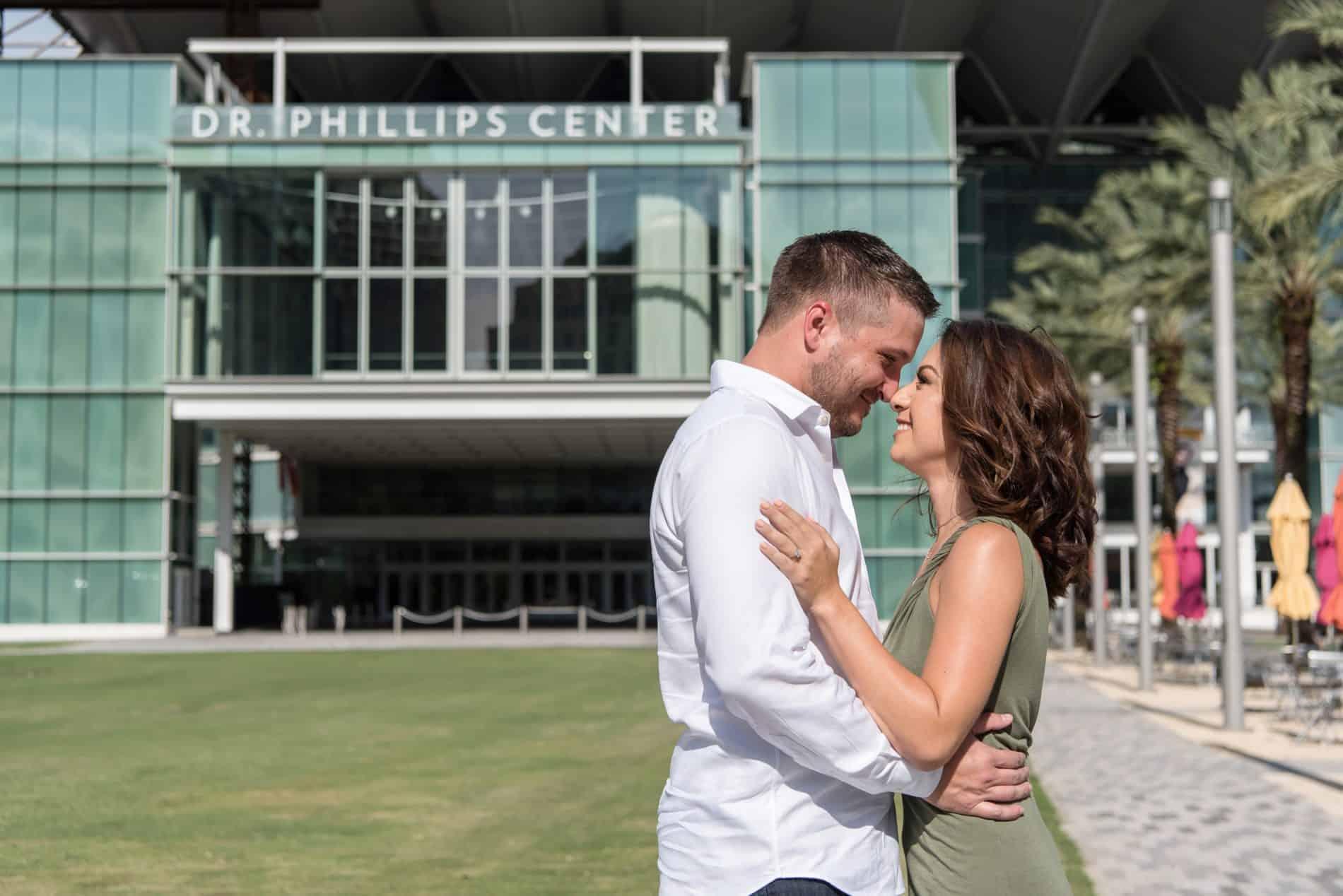 Engagement Portrait at Dr Phillips Center