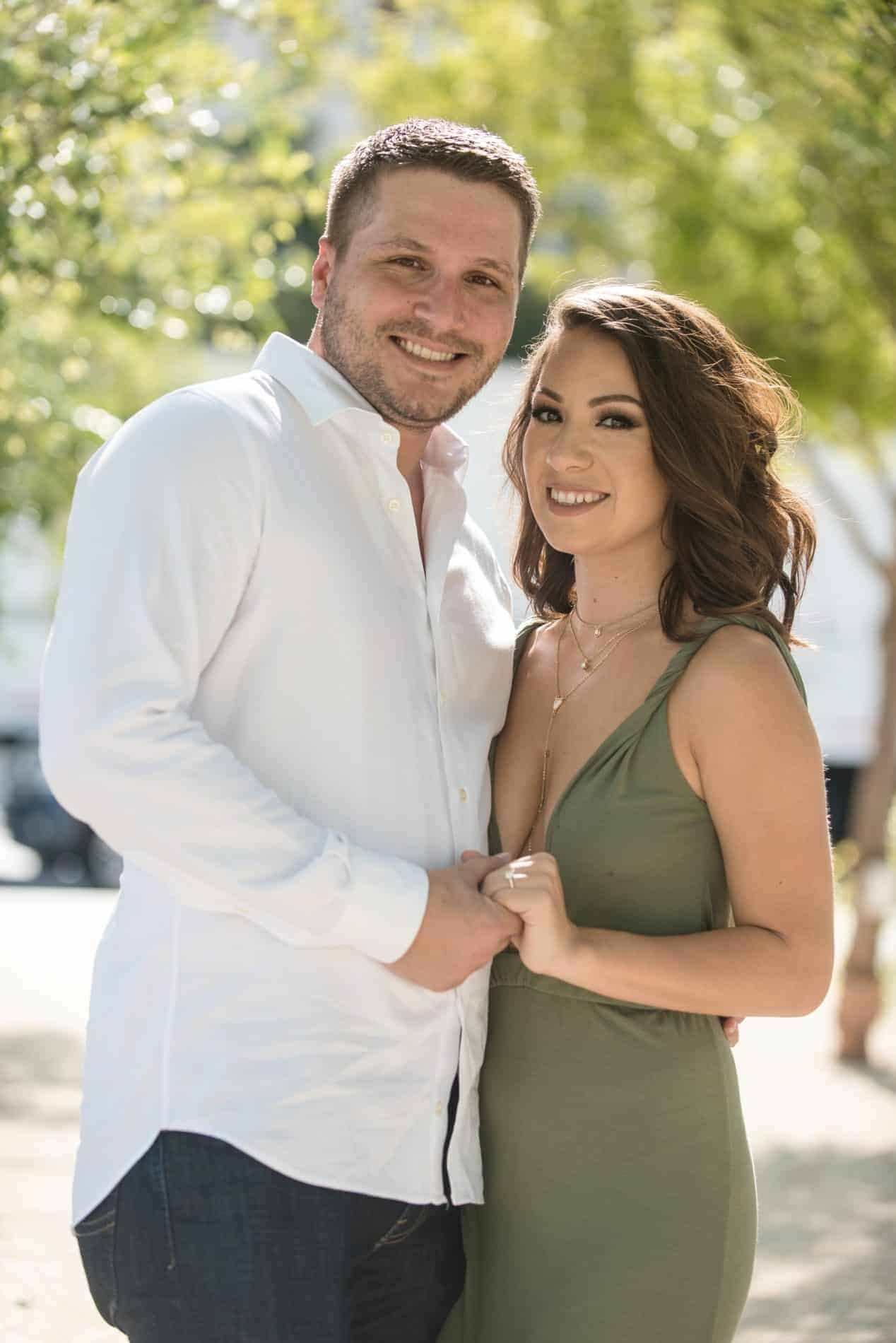 Soft Light Airy Couples Portrait in Downtown Orlando