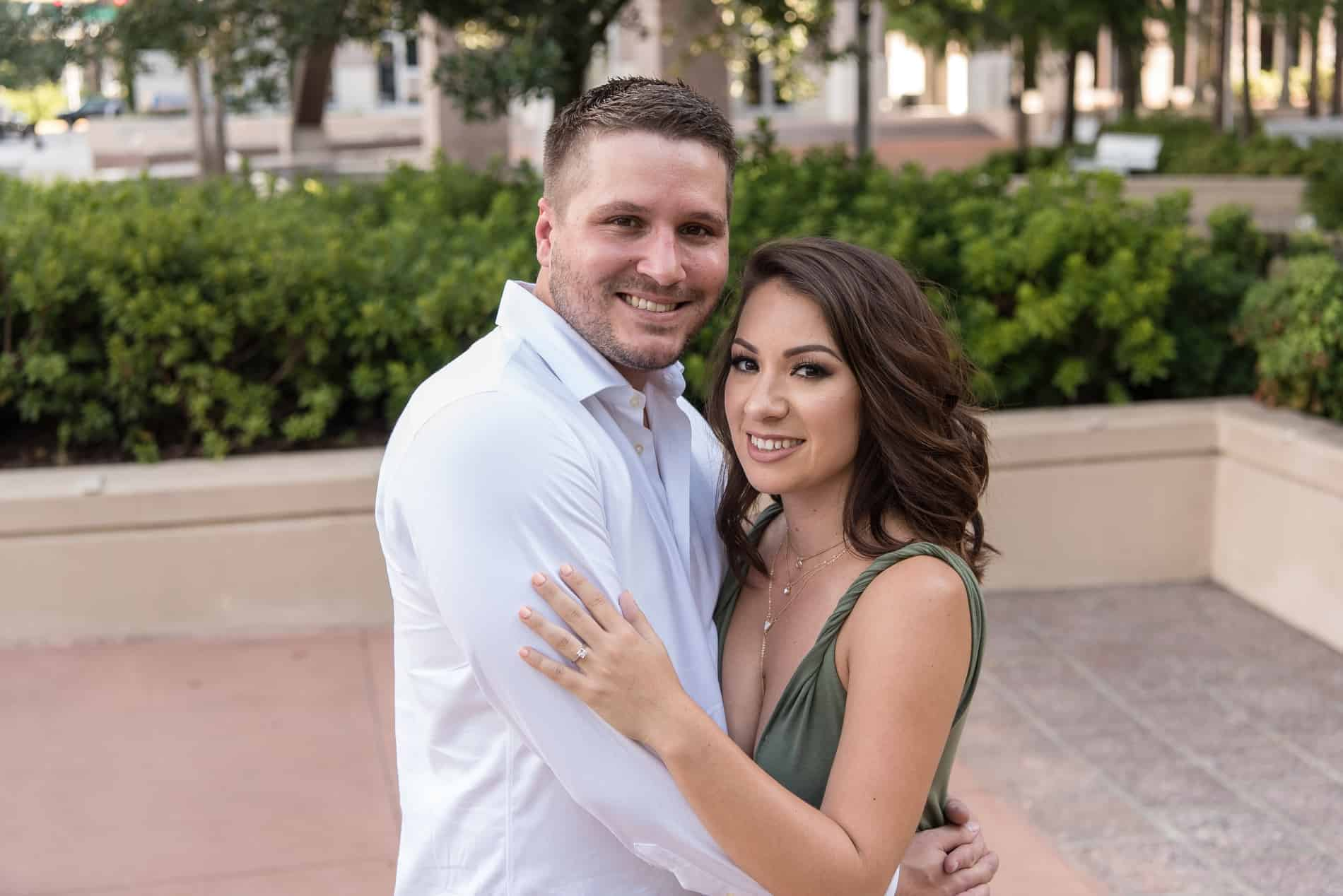The couple is in love as they get their Dr Phillips Engagement Photos