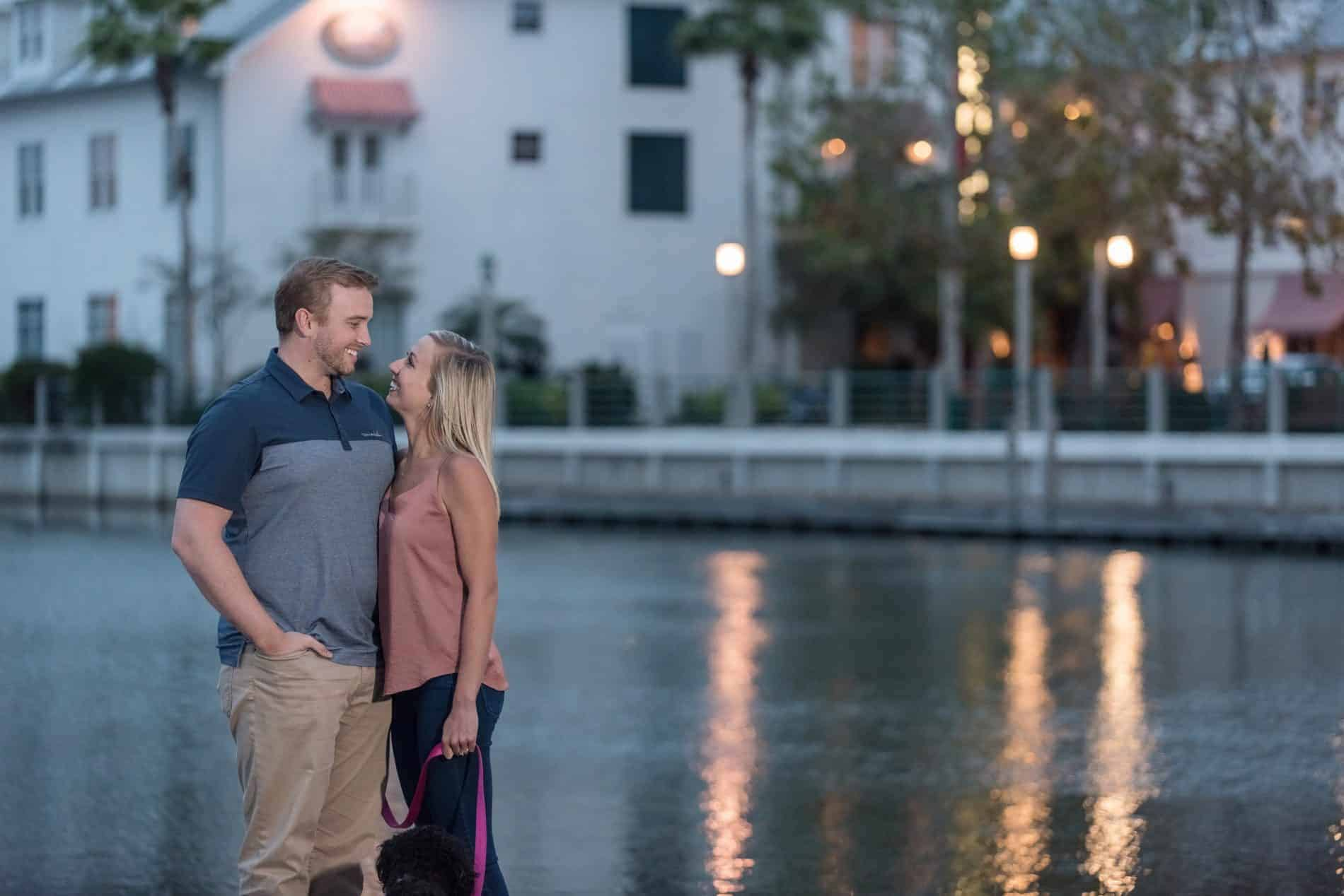 Bohemian Hotel Celebration in the background of this Engagement Photo