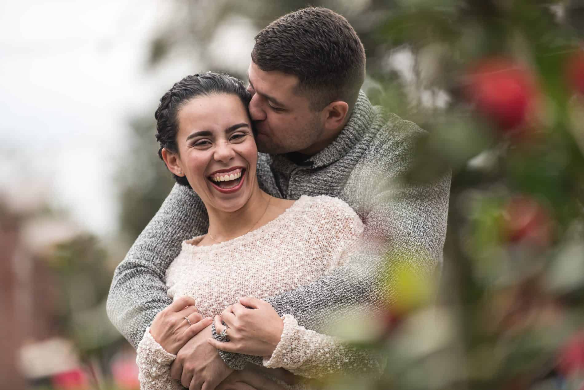 Winter Park Engagement Photos In the Rose Garden at Sunset