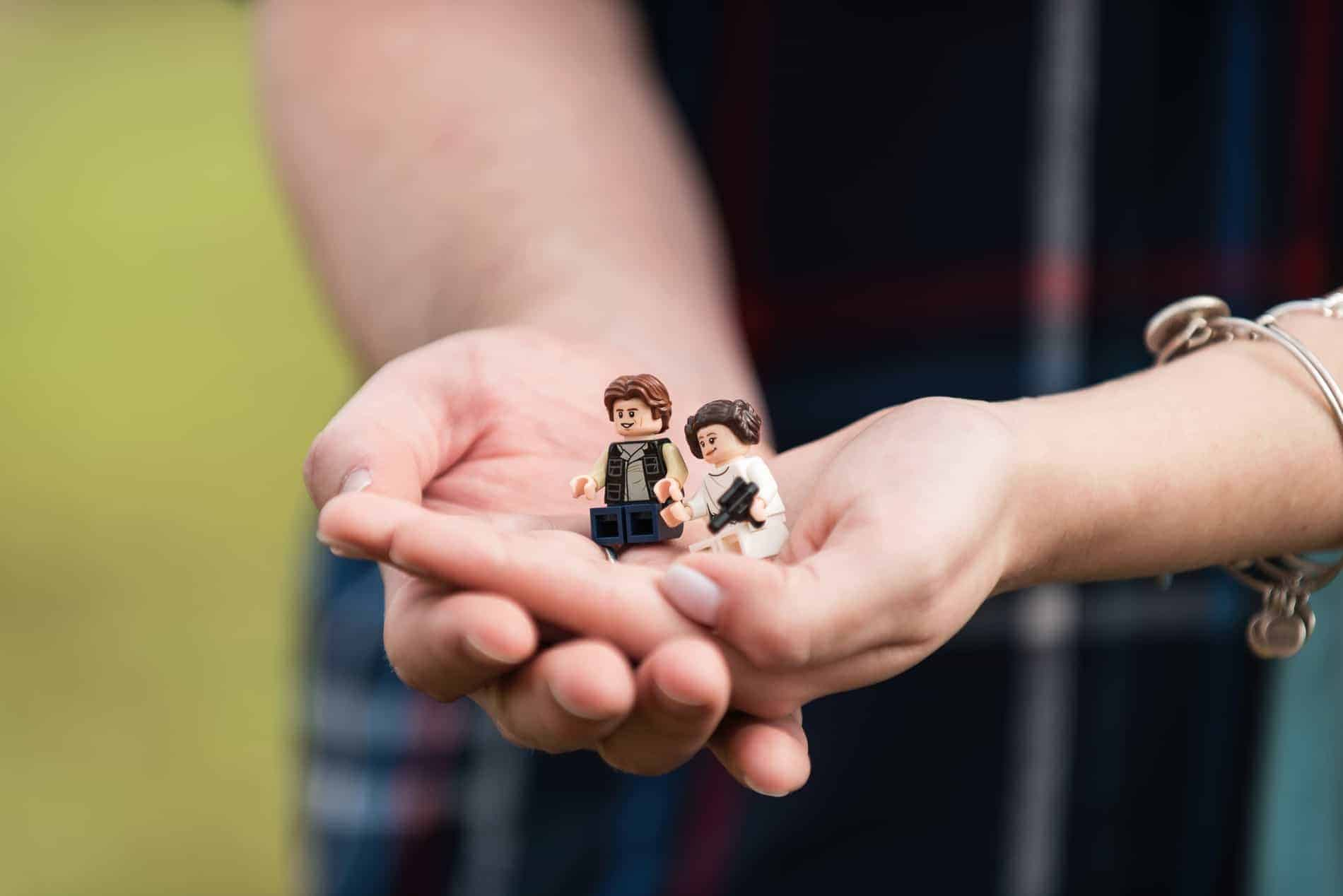 Lego Mini Figs used during a Star Wars Engagement Session