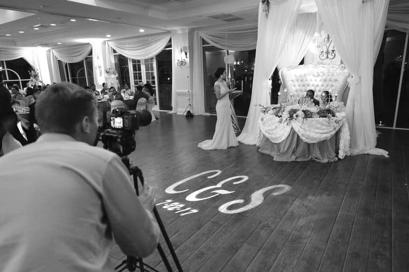 Video team record a wedding at Crystal Ballroom Sunset Harbor