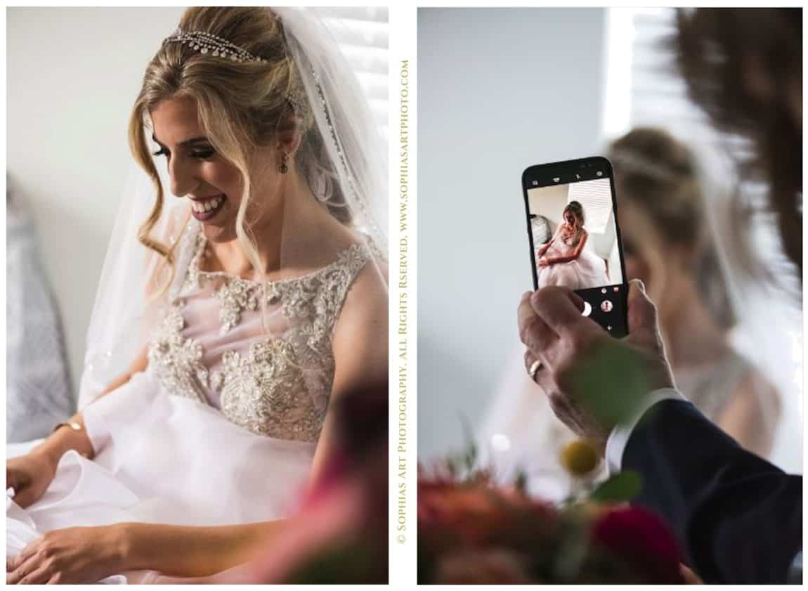 Celphones at weddings turn into beautiful images
