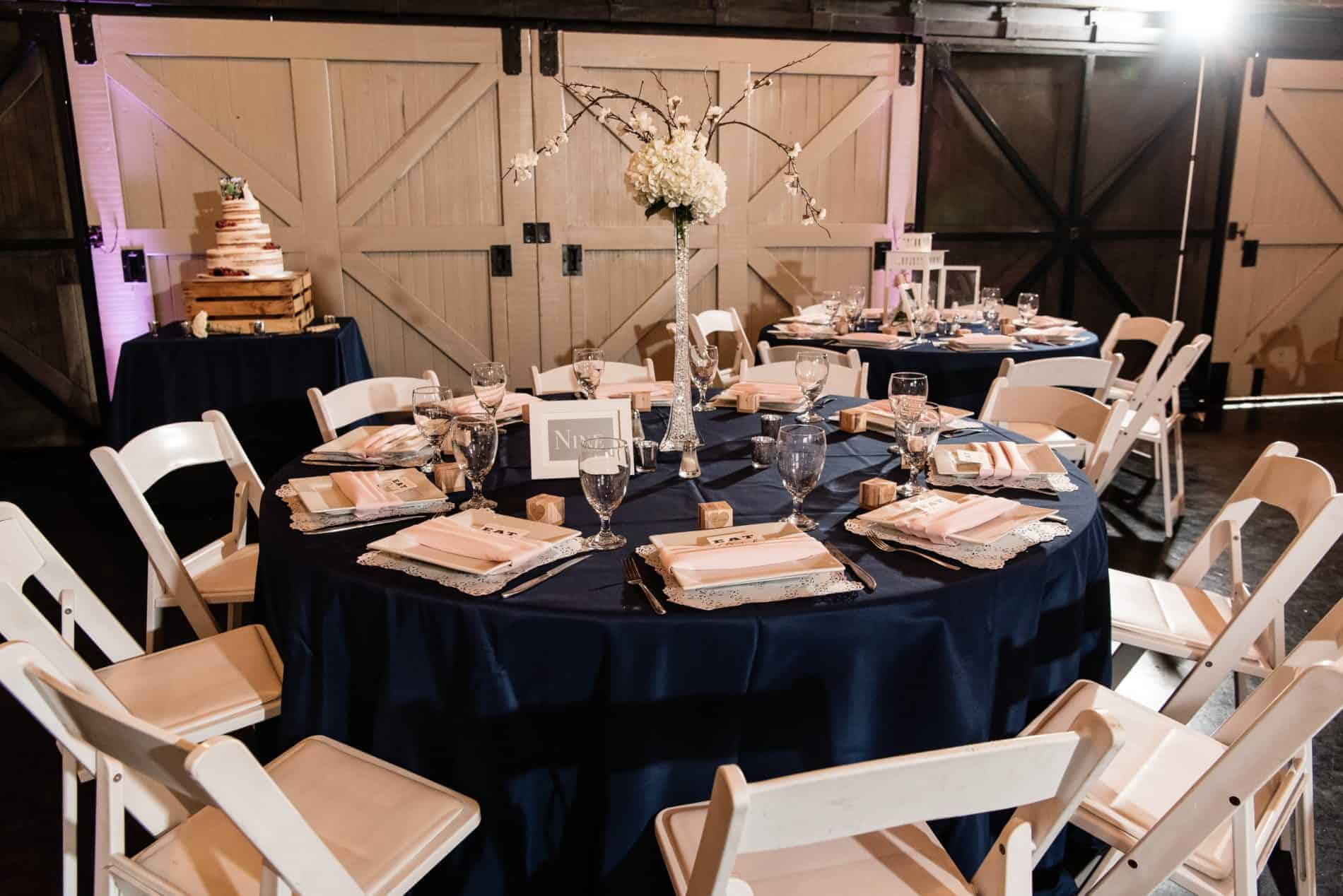Rustic Table Setting at a Farmers Market Wedding Reception