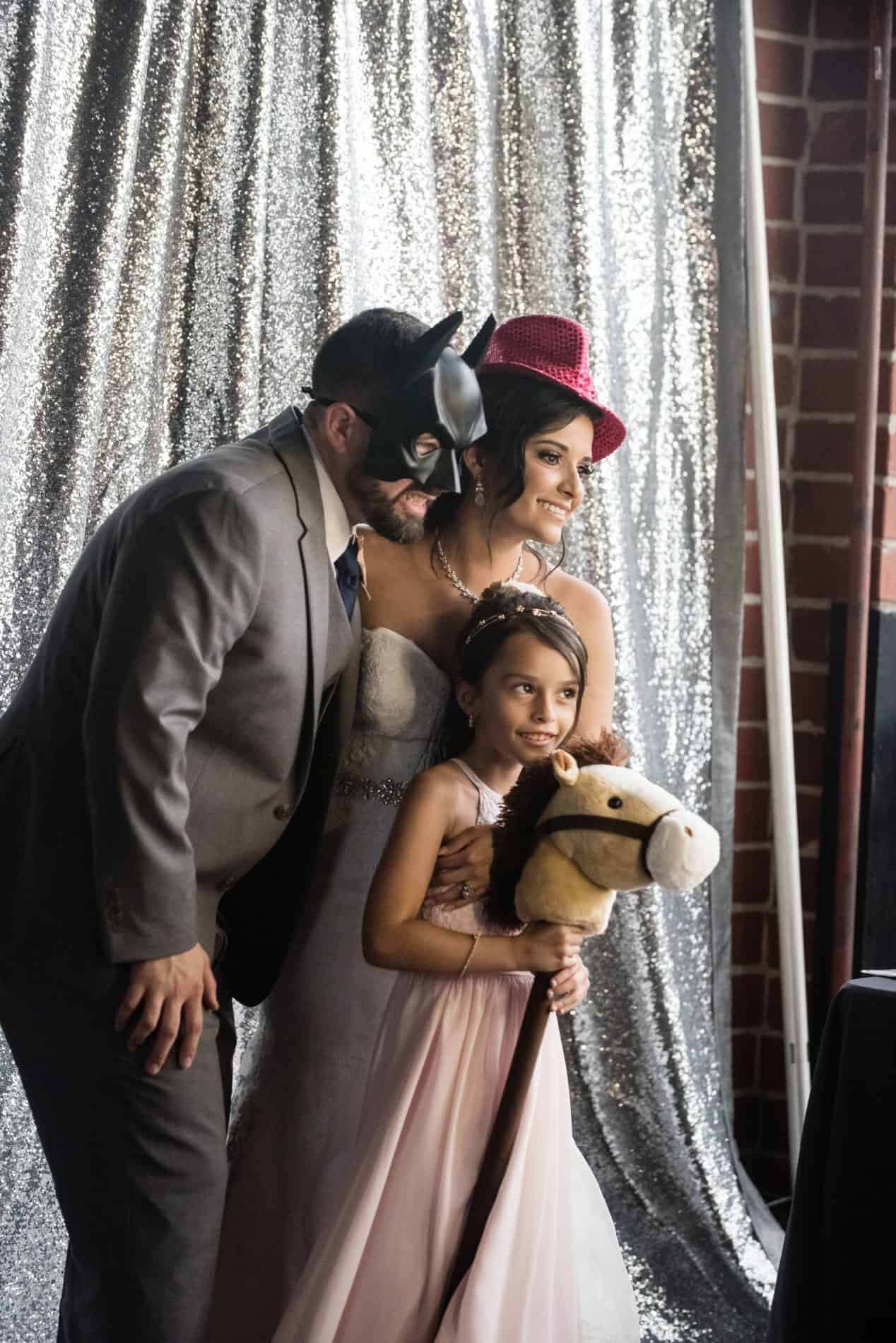 New Family enjoying the photo booth