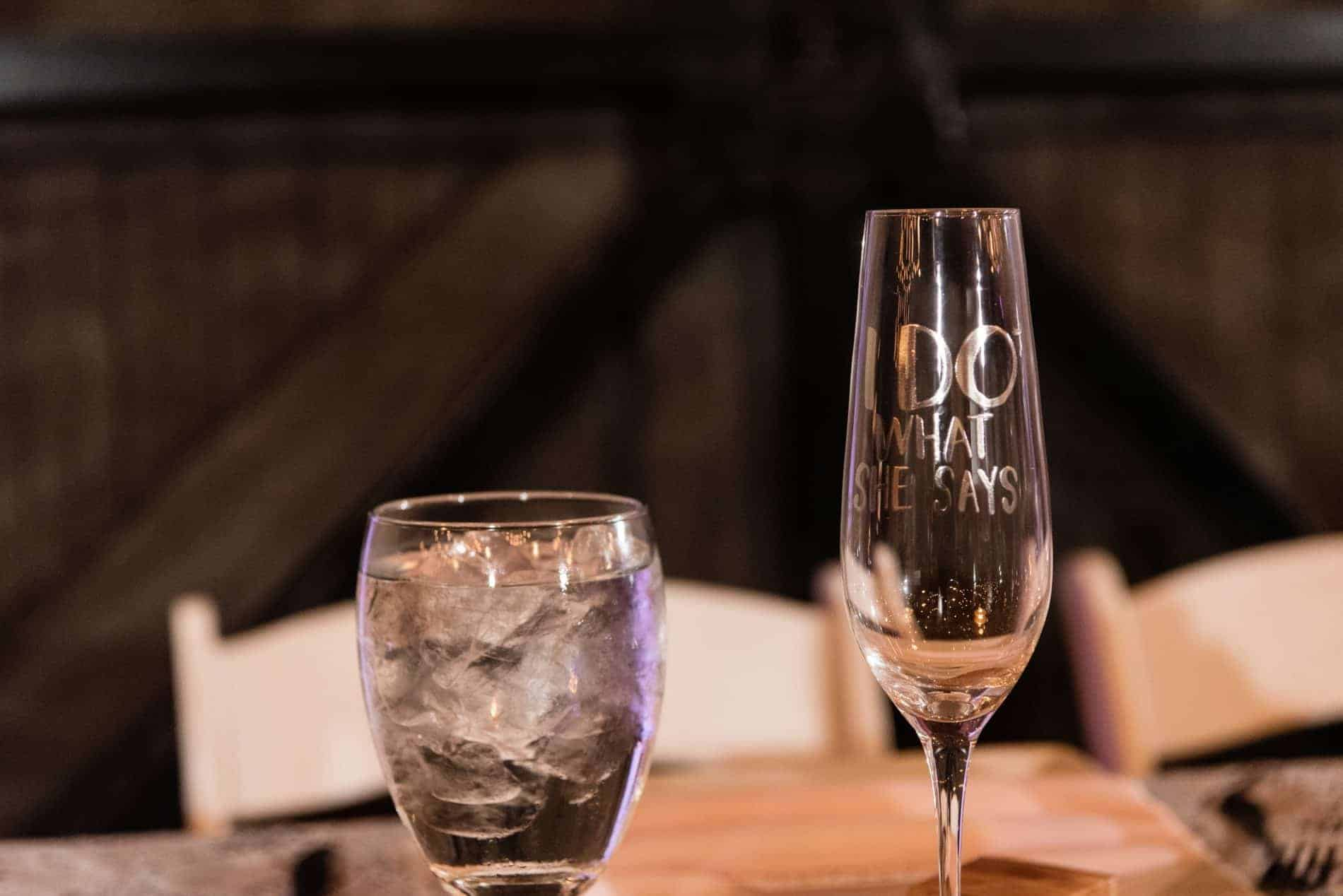 Personalized Glasses at this Winter Park Wedding