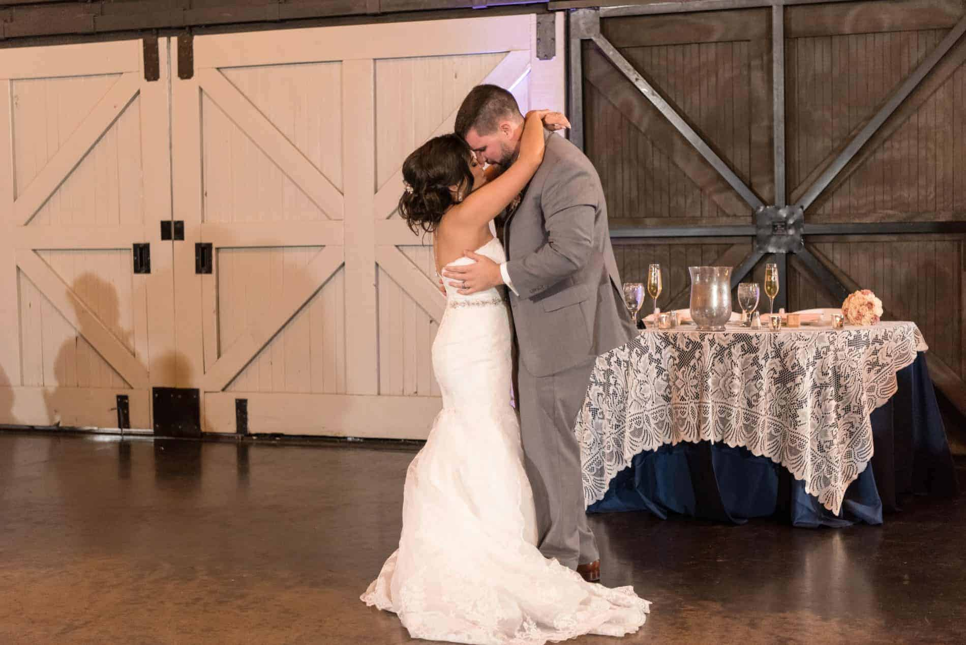 Bride dances at her Rustic Winter Park Wedding