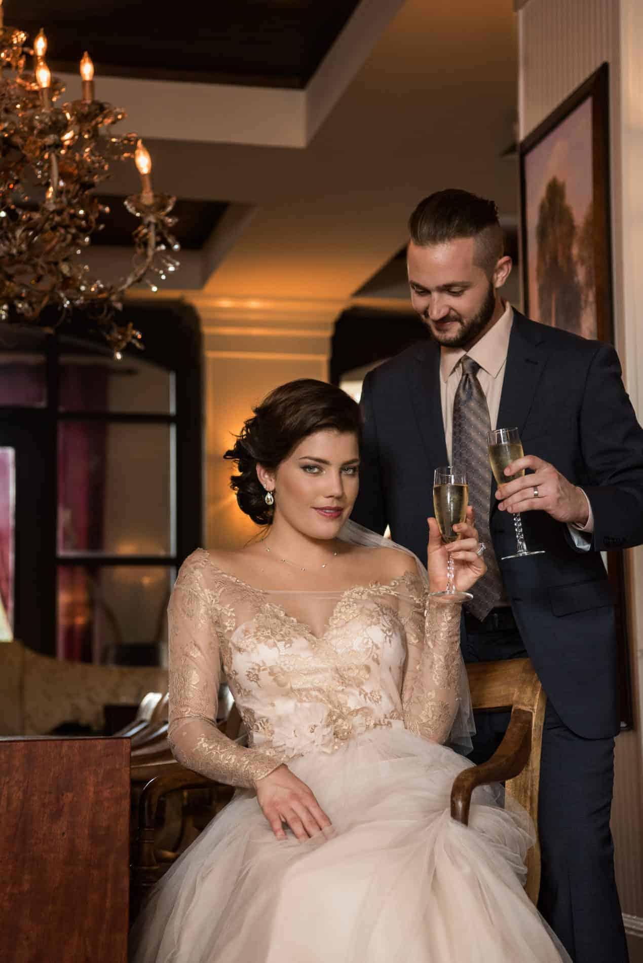 Beautiful Bride Magazine Covershoot at Bohemian Hotel Celebration with Old Charm Style