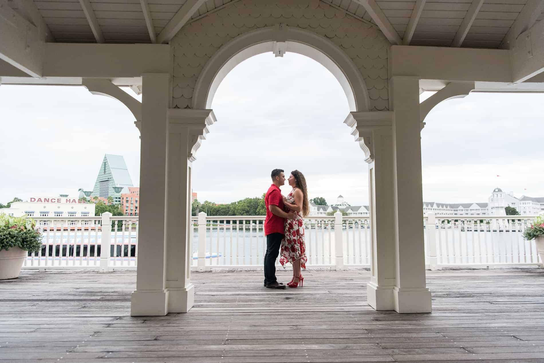 Romantic Boardwalk Engagement Photos