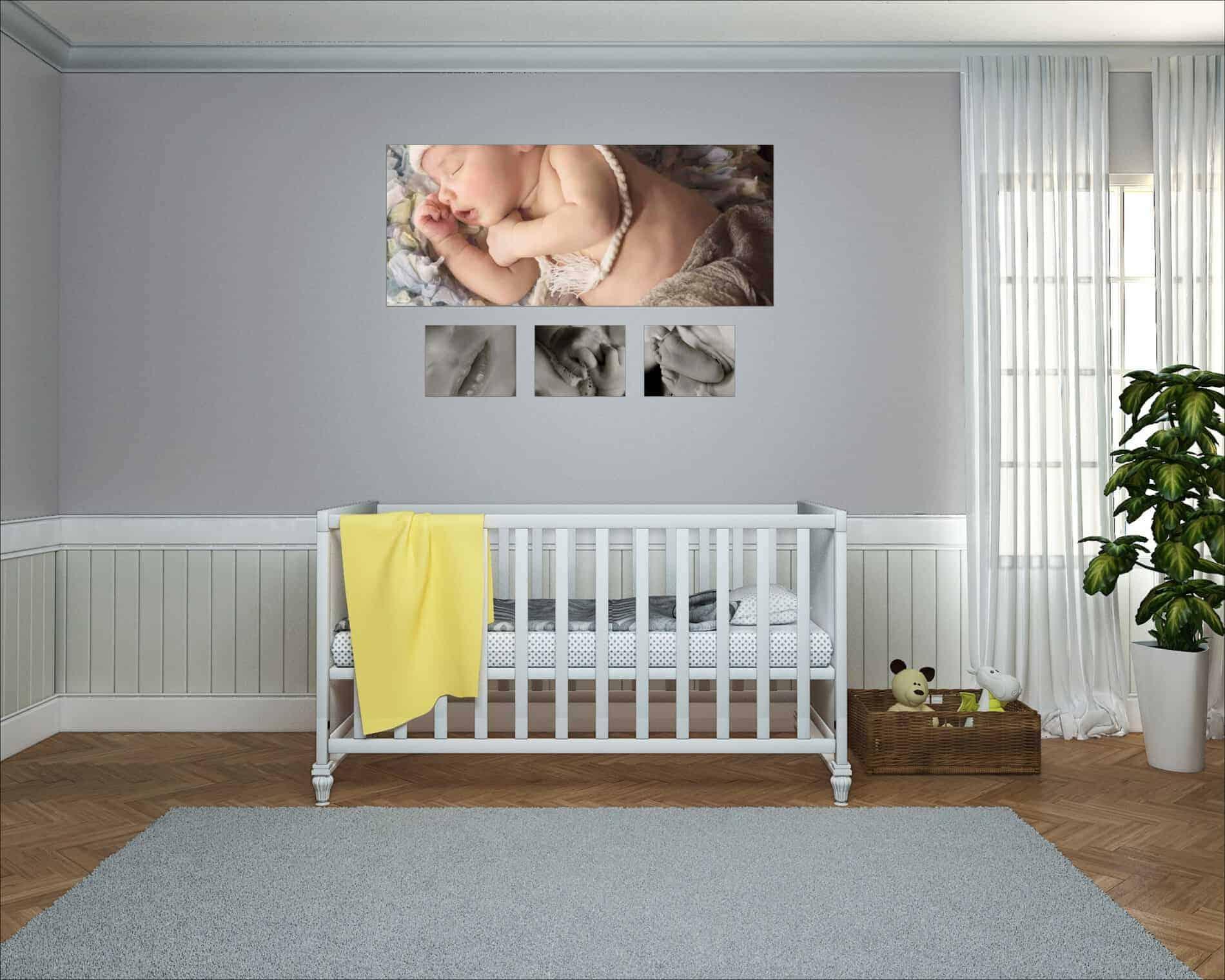 Newborn Family Wall Art Above Crib