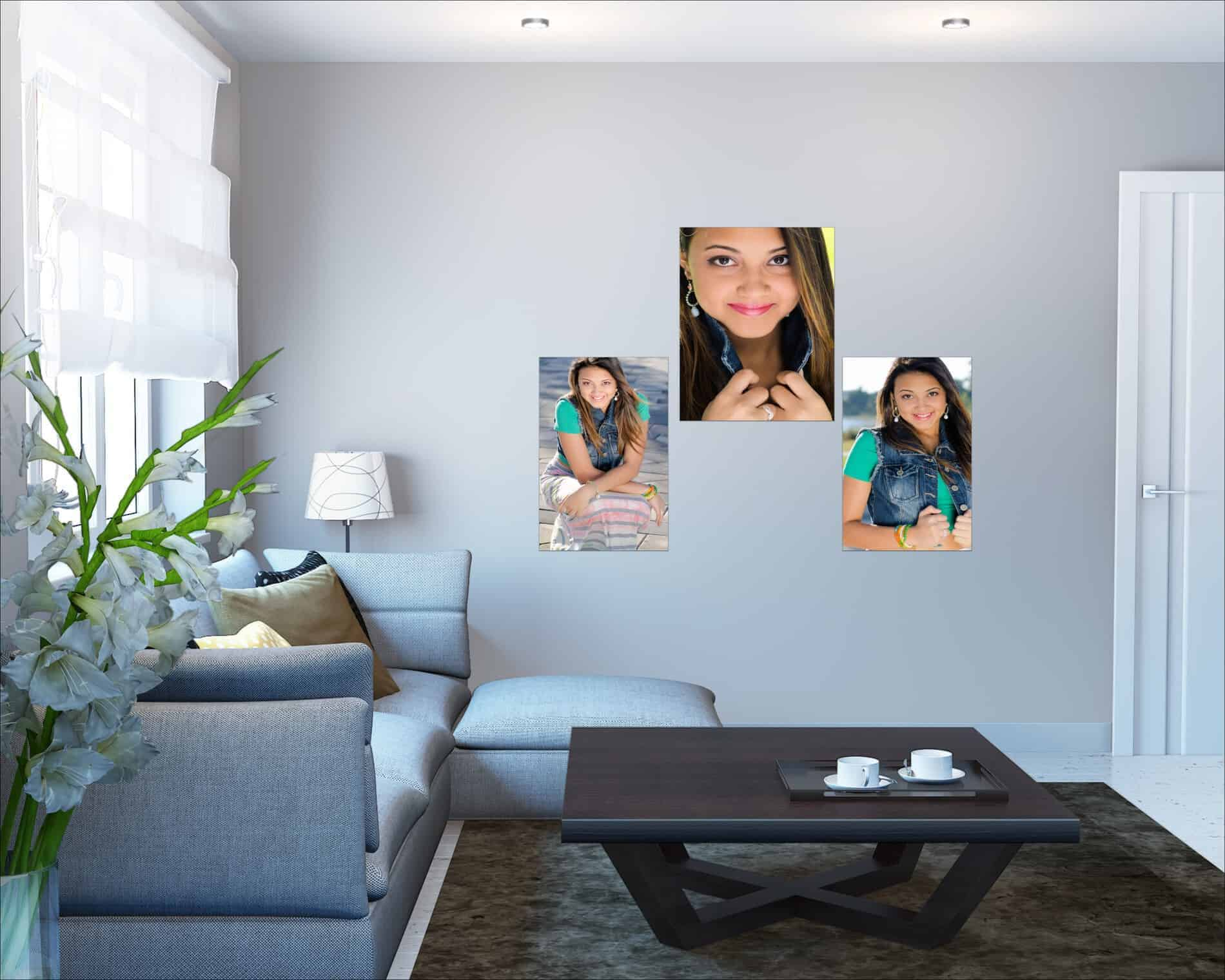 Outdoor Teen Portraits on a living room wall