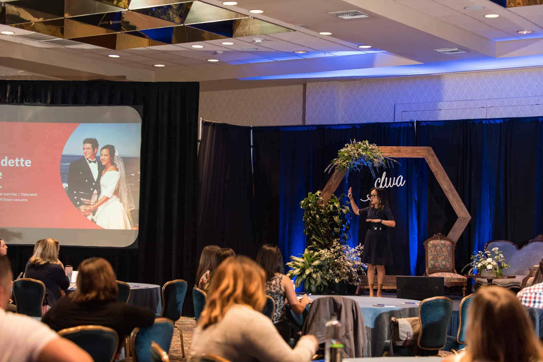 Bernadette Baillie Vice President Marketing The Knot Speaking at CFWA The Summit Conference