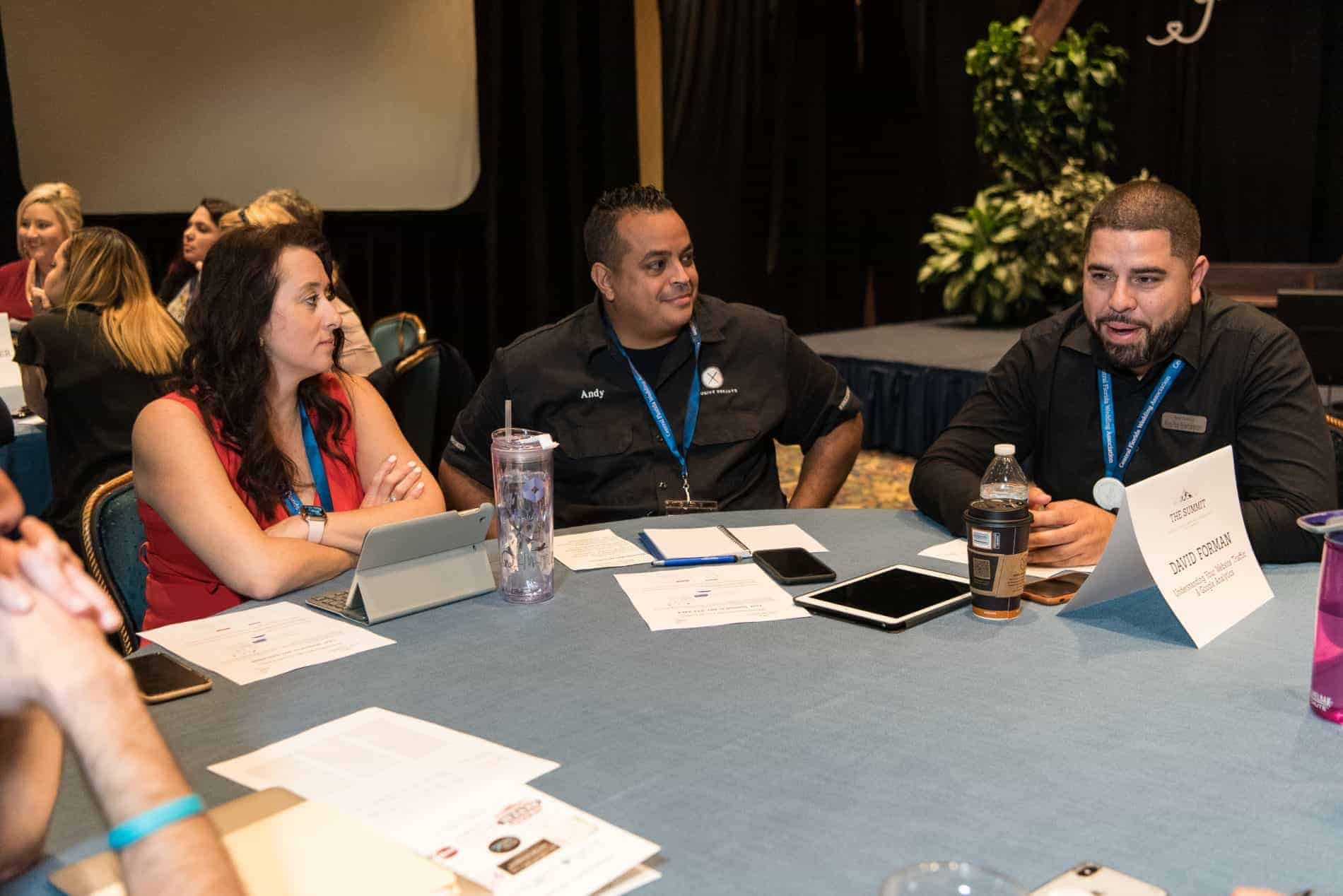 Roundtable at the Amazing CFWA Wedding Education Conference The Summit