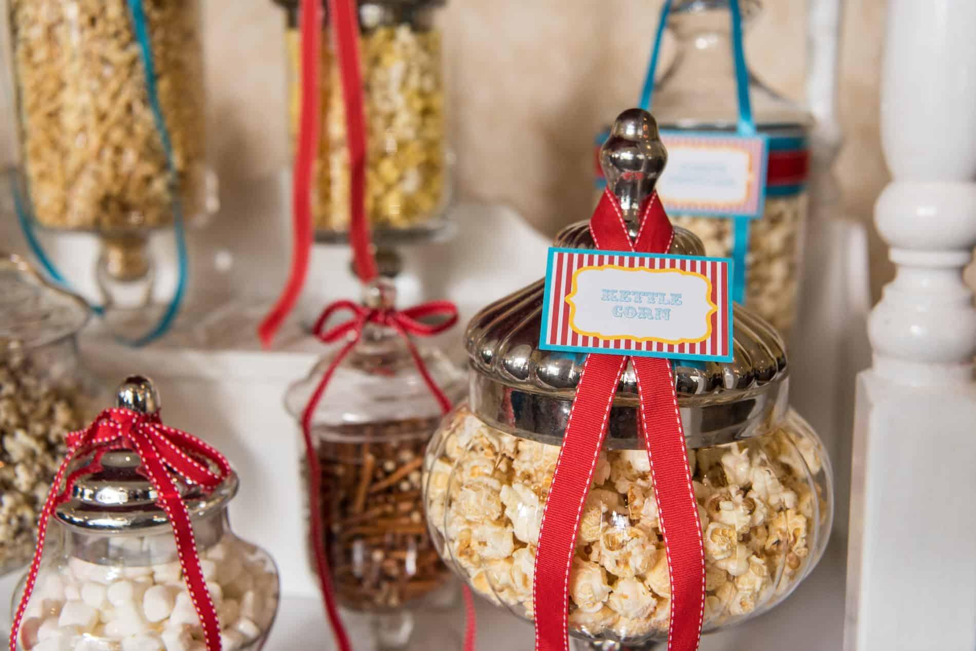 Amazing Popcorn Bar at CFWA Wedding Education Conference The Summit Roundtable