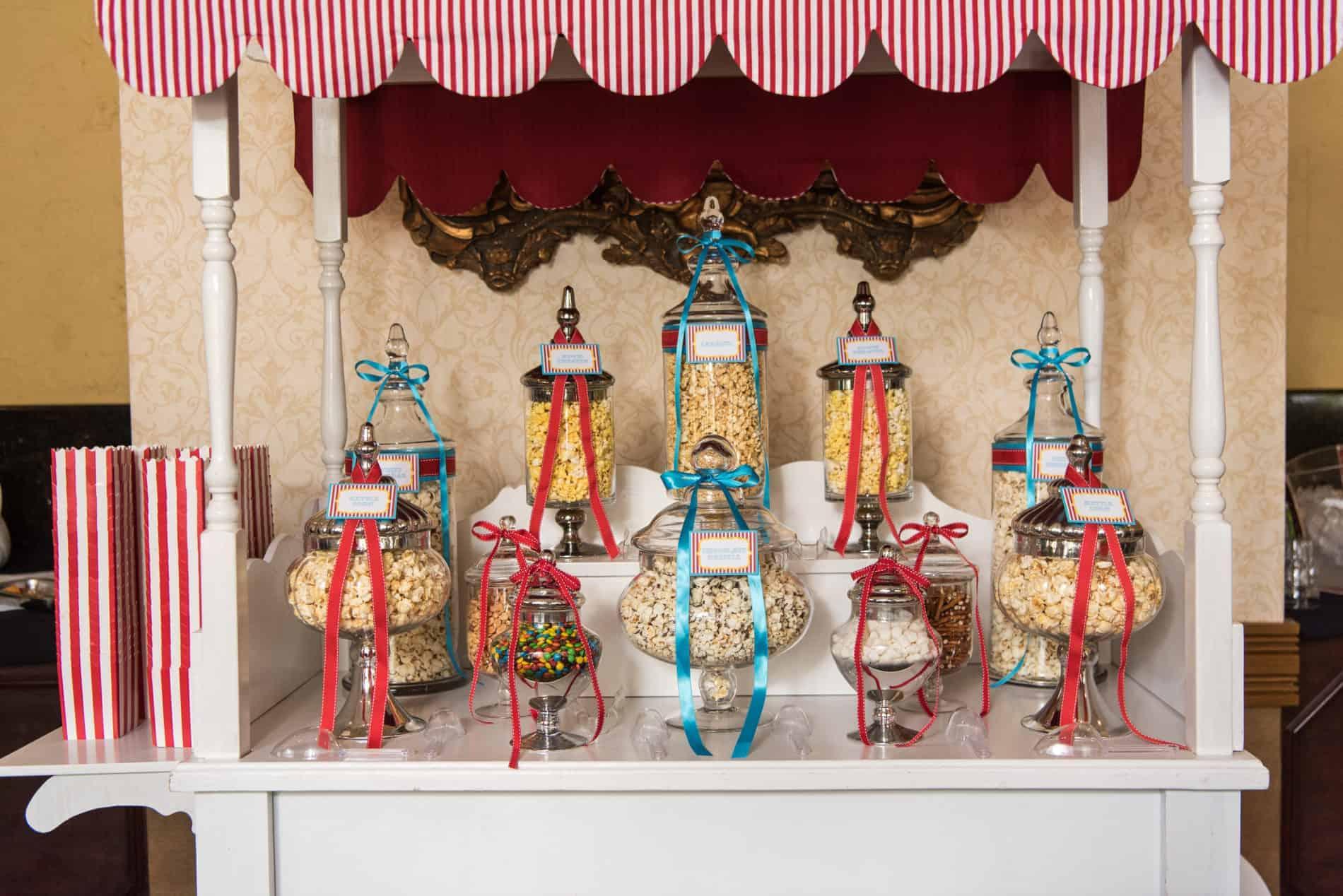 Popcorn Bar at Amazing CFWA Wedding Education Conference The Summit