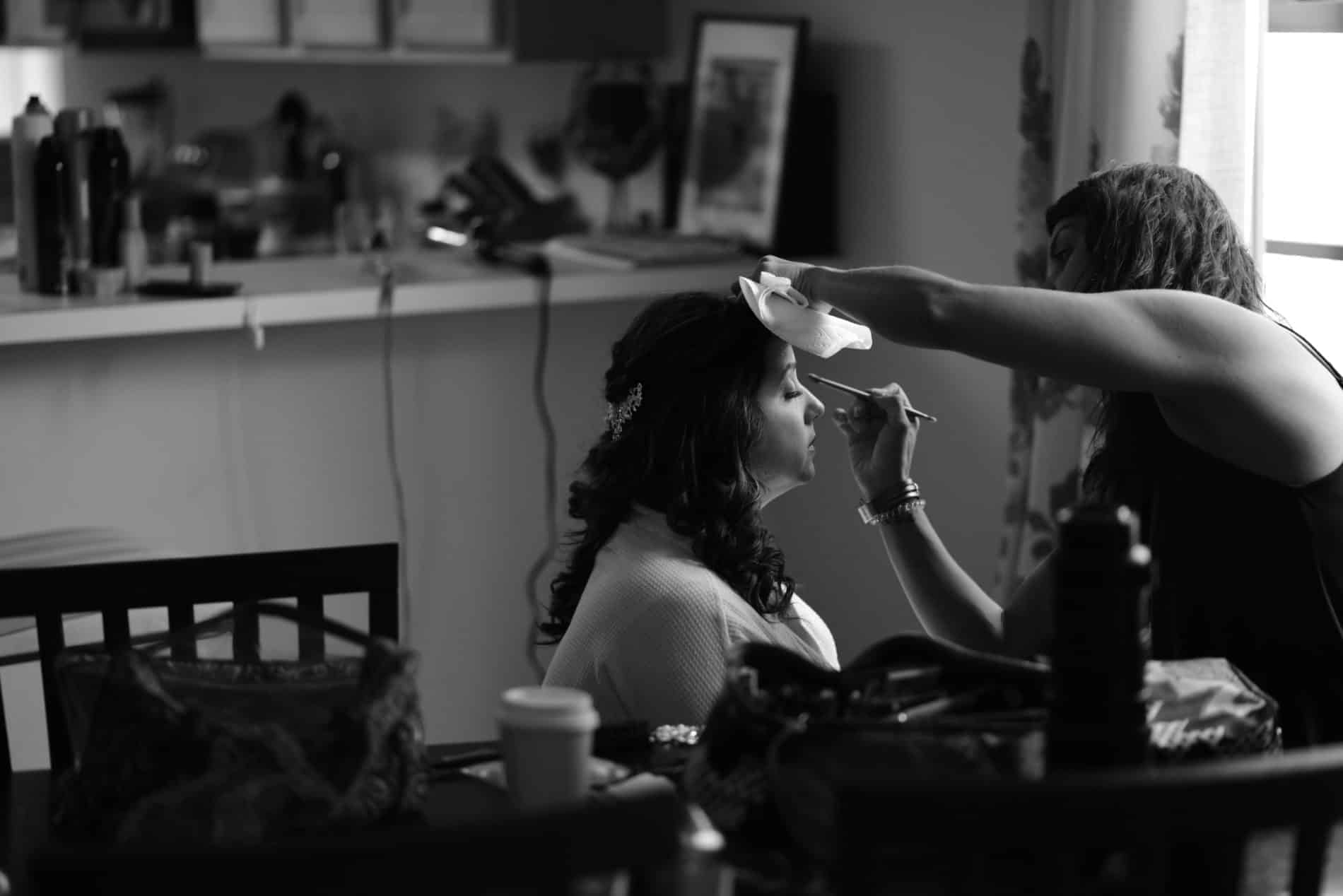 Beautiful Bride gets ready for her Wedding
