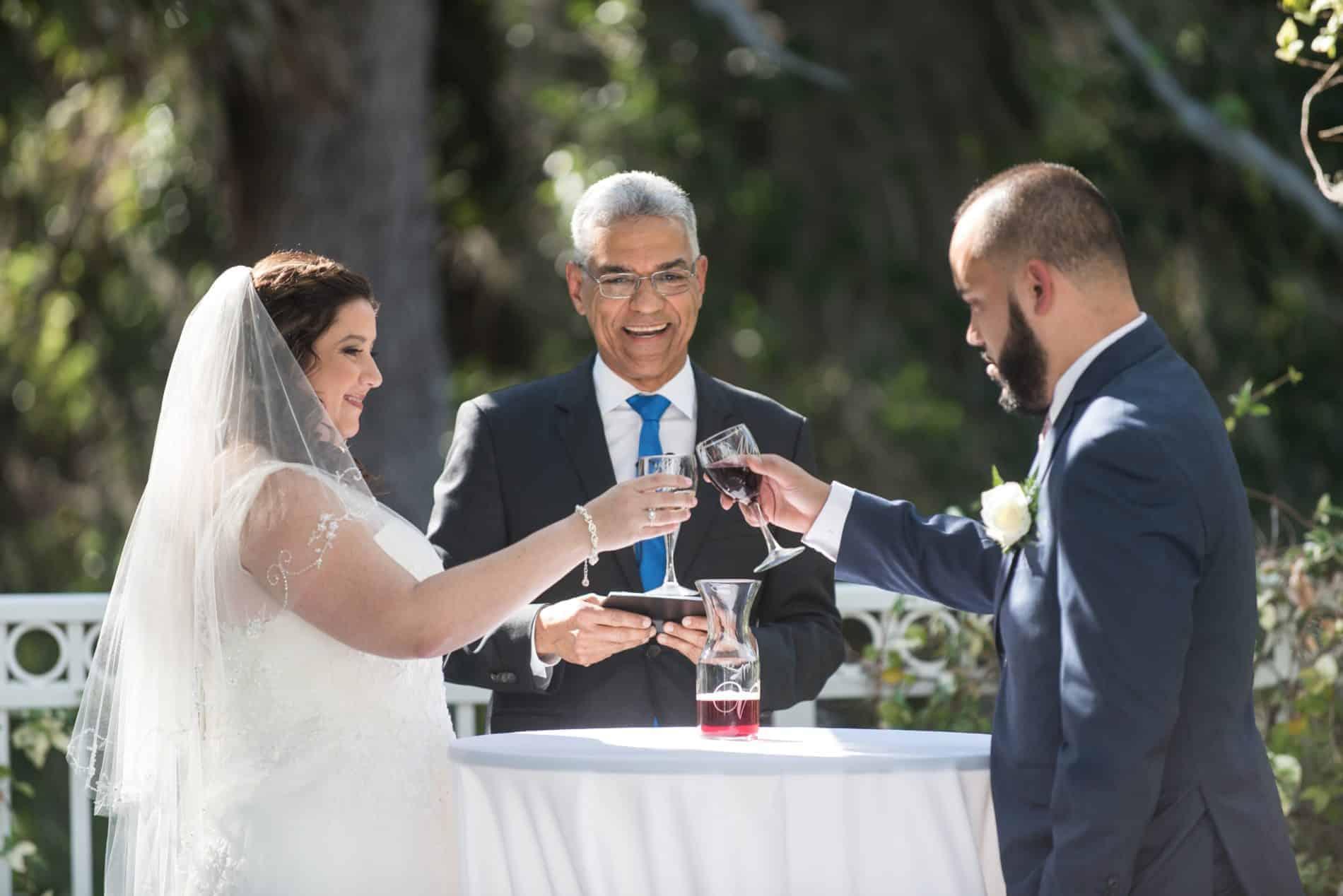 Wine Ceremony at this Italian Outdoor Wedding